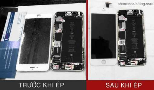 Ép kính iphone 6 plus 1