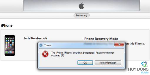 Sửa chữa iPad mini 1 restore lỗi 9/28/40/4013 giá tốt tại Nha Trang 1