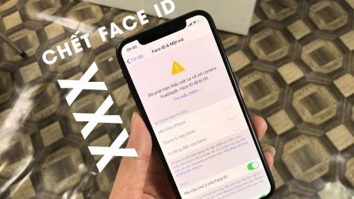 Sửa iphone xs không nhận diện gương mặt tại Nha Trang 1