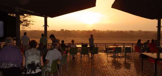 Beautiful Sunset From Le Fera Deck at Ngwenya Lodge
