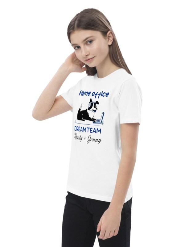 """Organic cotton kids t-shirt """"Home office"""""""
