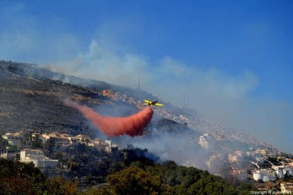 avionetas incendio cumbres del sol javea