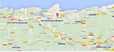 mapa cantabria oyambre