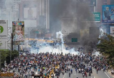 represion marcha protesta en caracas