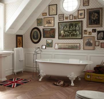 baño-decoración-vintage