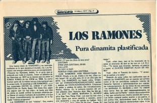 ramones noticia 1977 espana