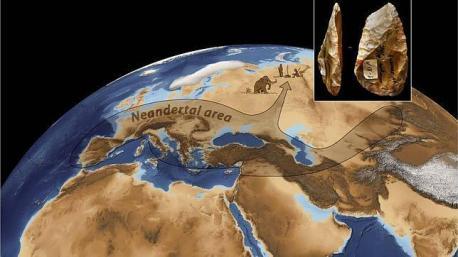area neandertal mapa