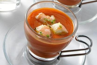 gazpacho con marisco