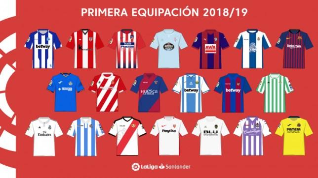 equipaciones liga futbol 2018-2019