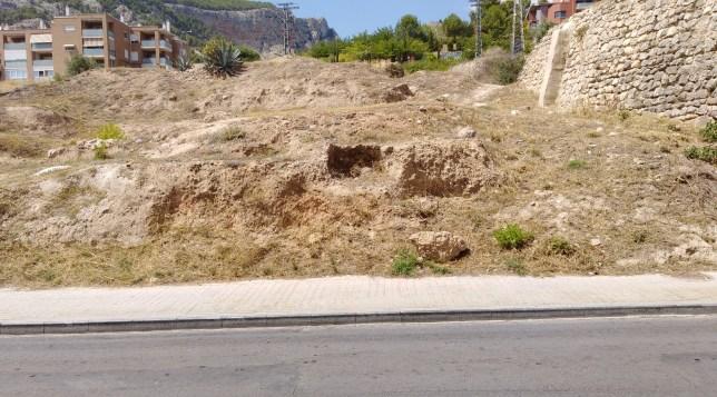 restos arqueologicos calle peru alcoy