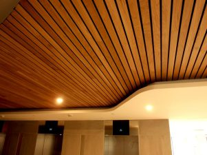 techo revestimiento madera