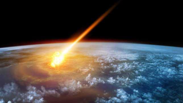 meteorito caida asteroide