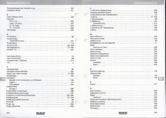 LKW DAF XF105 2010 Betriebsanleitung Bedienungsanleitung