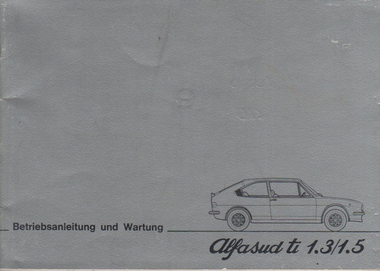 ALFA ROMEO ALFASUD ti Betriebsanleitung 1978