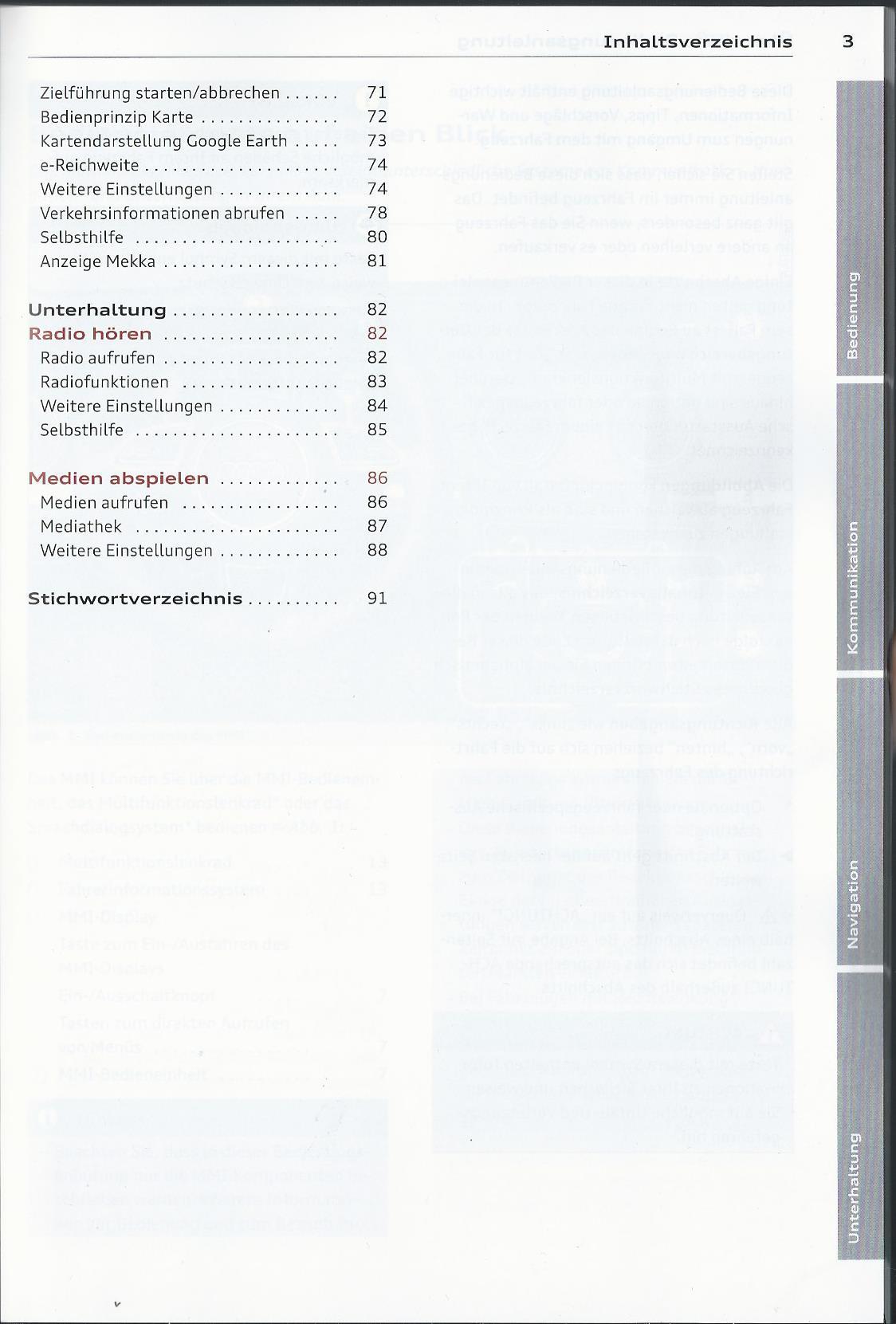 AUDI MMI Navigation PLUS Betriebsanleitung 2014