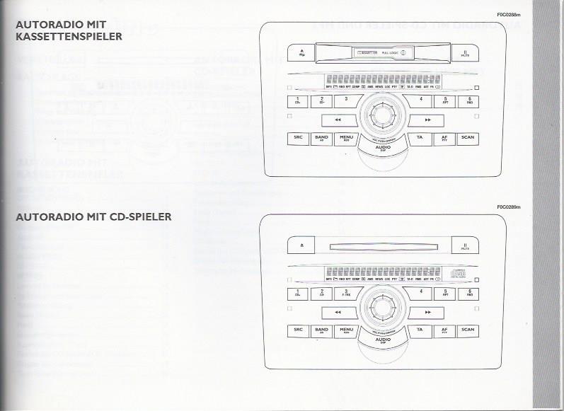 FIAT AUTORADIO Bedienungsanleitung Handbuch für STILO 2004