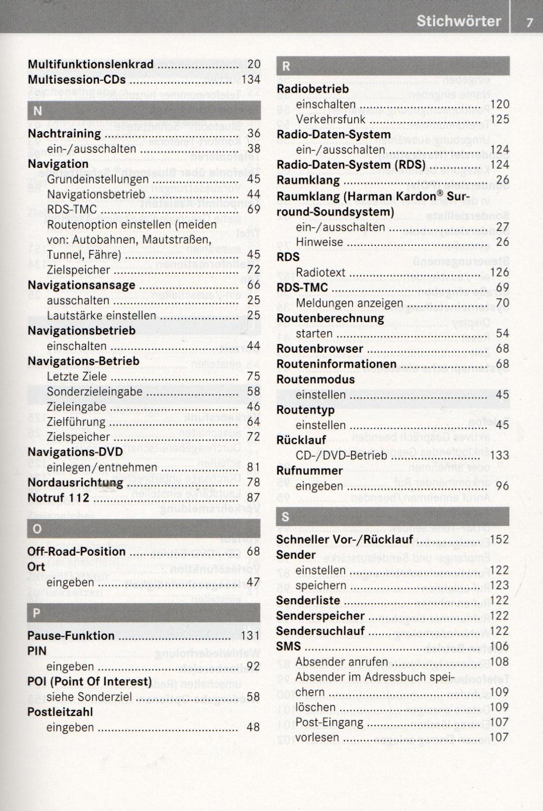MERCEDES AUDIO 50 APS Betriebsanleitung 2010