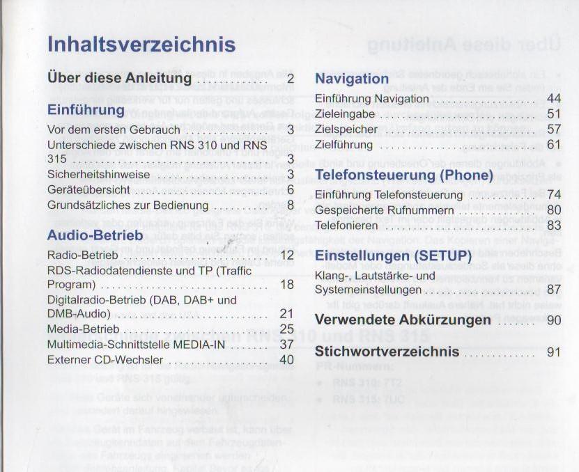 VW RNS 310 RNS 315 Betirebsanleitung 2013