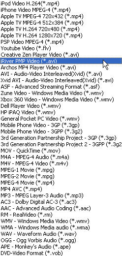 How to convert WMV 3GP MP4 FLV AVI MPEG to PMP Video with