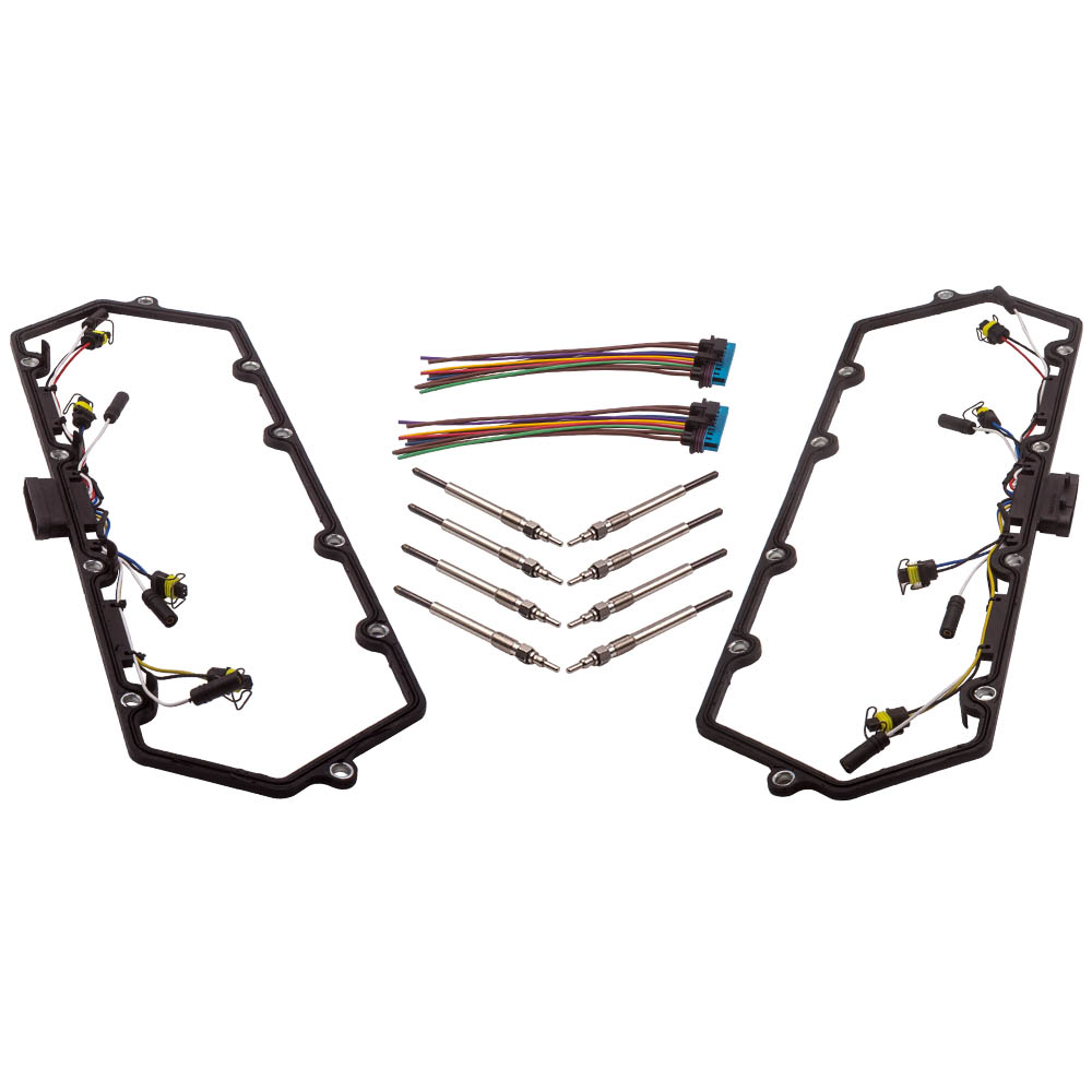 Valve Cover Gaskets W/ Harness Glow Plug Set For Ford 7.3L