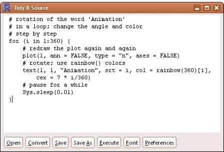 formatR: tidy R code