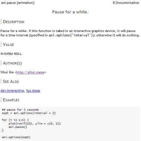 R HTML Help Theme