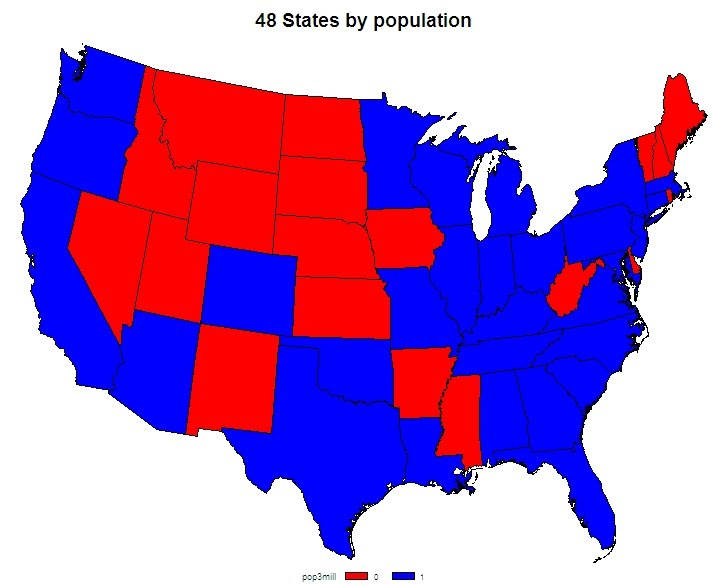 Example Choropleth Maps Rbloggers - Choropleth map us projection