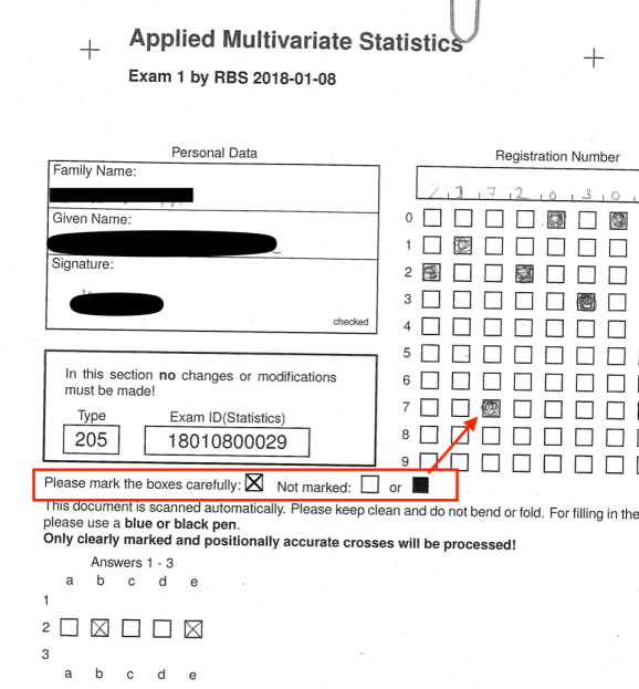 One of the challenges with automated exams is incorrect marking.