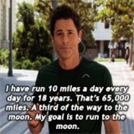 My goal is to run to the moon