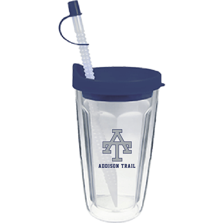 customizable water bottle with cap and straw