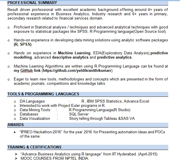Data Analytics Machine Learning Algorithms using R