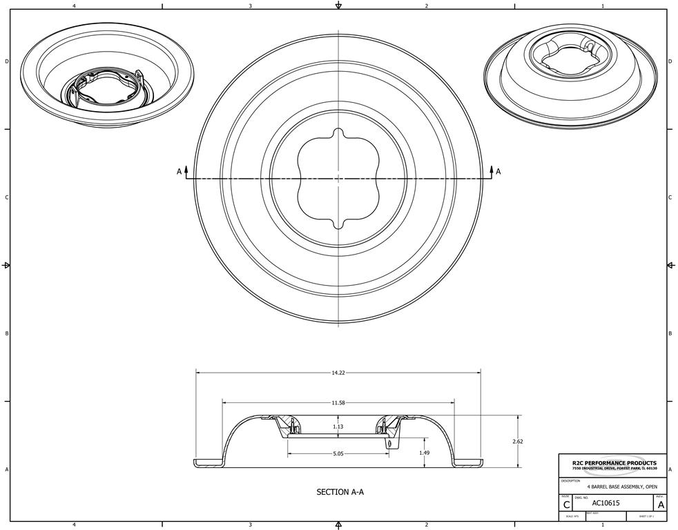 CFD 4150 4 Barrel Air Cleaner Bases