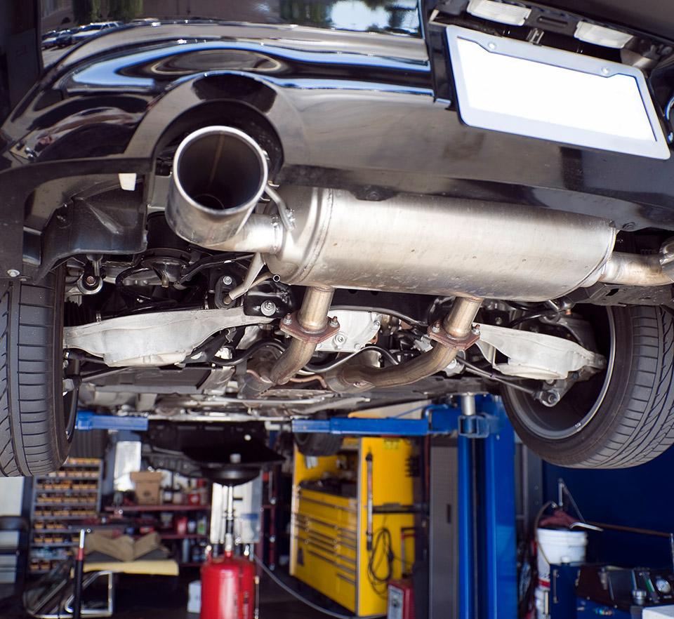exhaust system muffler repair service