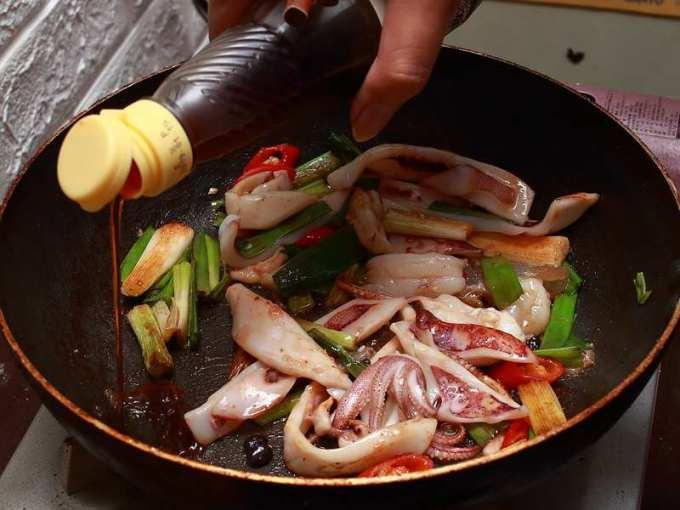 蔥爆中卷 - 熱炒廚房 - 露兩手來給朋友試試