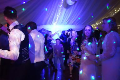 In between the crowds on the dance floor in a marquee at Rose-In-Vale, St Agnes