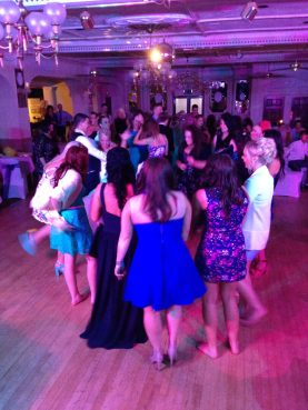 Ladies Dominating the Dancefloor at a Wedding in the Penventon Hotel, Redruth, Cornwall
