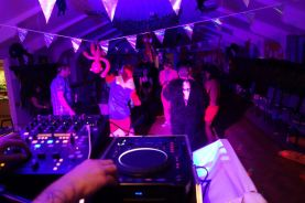 Fancy Dress Party, View From Behind the Booth, St Tudy Village Hall, Cornwall
