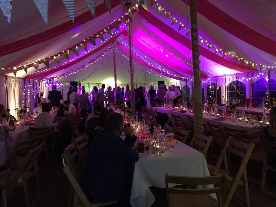 Marquee Set up & Ready for a Wedding at the New Inn, Cornwall