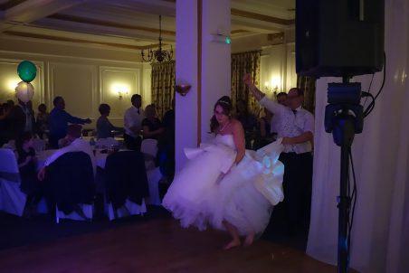 Bride Leading the Conga at Tregenna Castle, April 2015