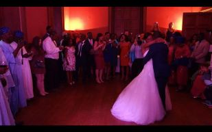 Fola & Funmi's First Dance with Guests Watching, Boconnoc House, July 2015