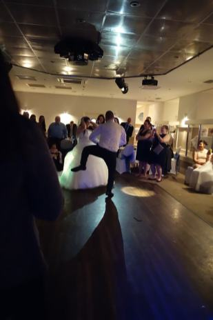 Groom performing an entertaining first dance at St Ives Harbour Hotel, October 2015