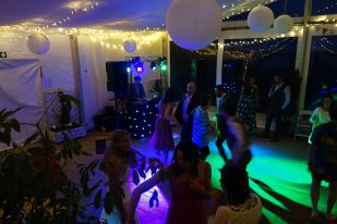 Guests enjoying the party at Lusty Glaze, 2015