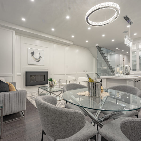 Interior of a modern home staged by R3 Home Staging