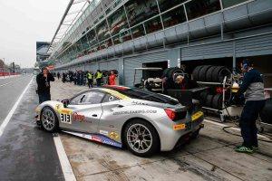 Trackside at the Ferrari Challenge