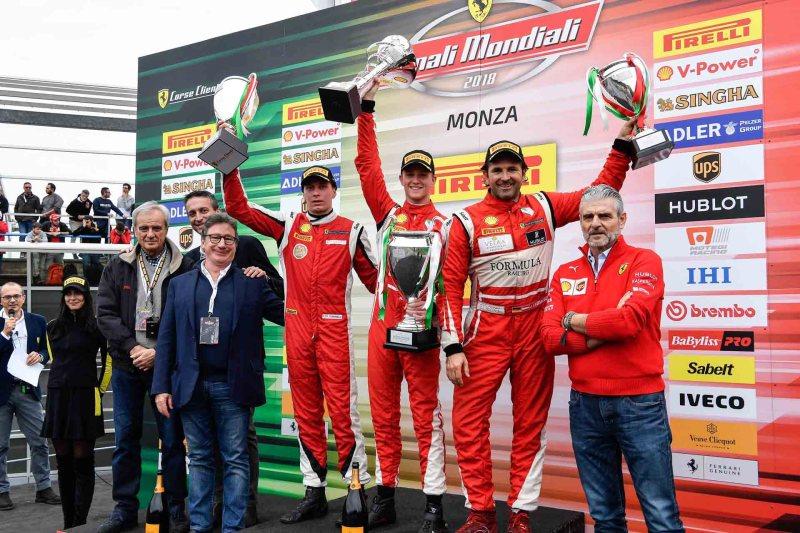 Ferrari Challenge Awards Podium