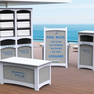 recycled plastic towel stations