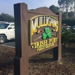 restaurant entrance sign