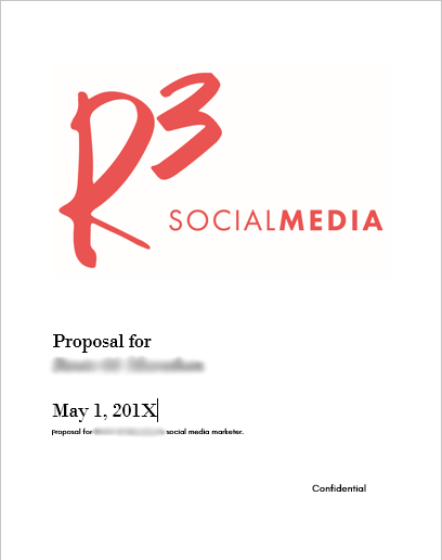 What should be in a social media proposal? | R3 Social Media