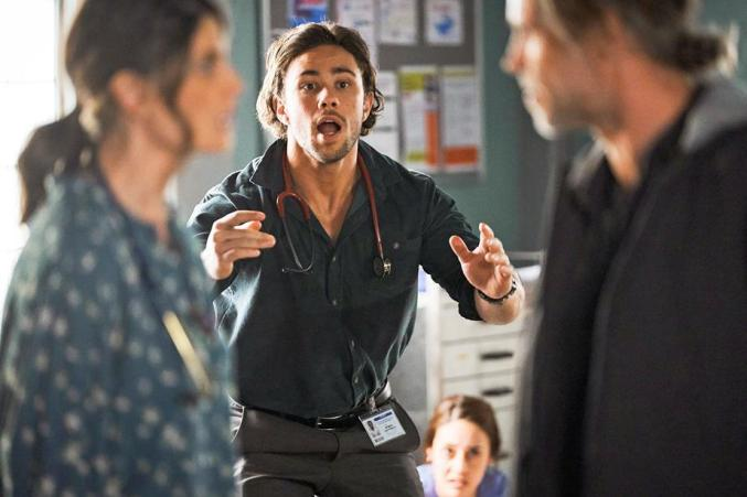 Home and away:Orpheus sacrificed himself during the hospital siege. Image: Seven Network
