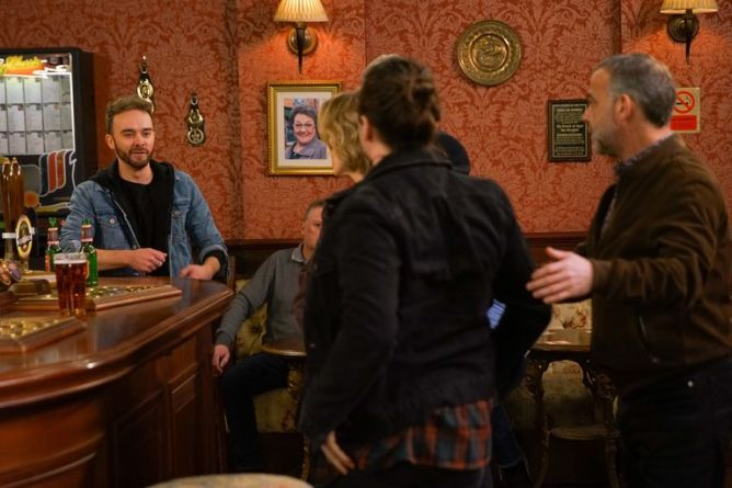 David Platt and Seb Franklin Clash on Coronation Street